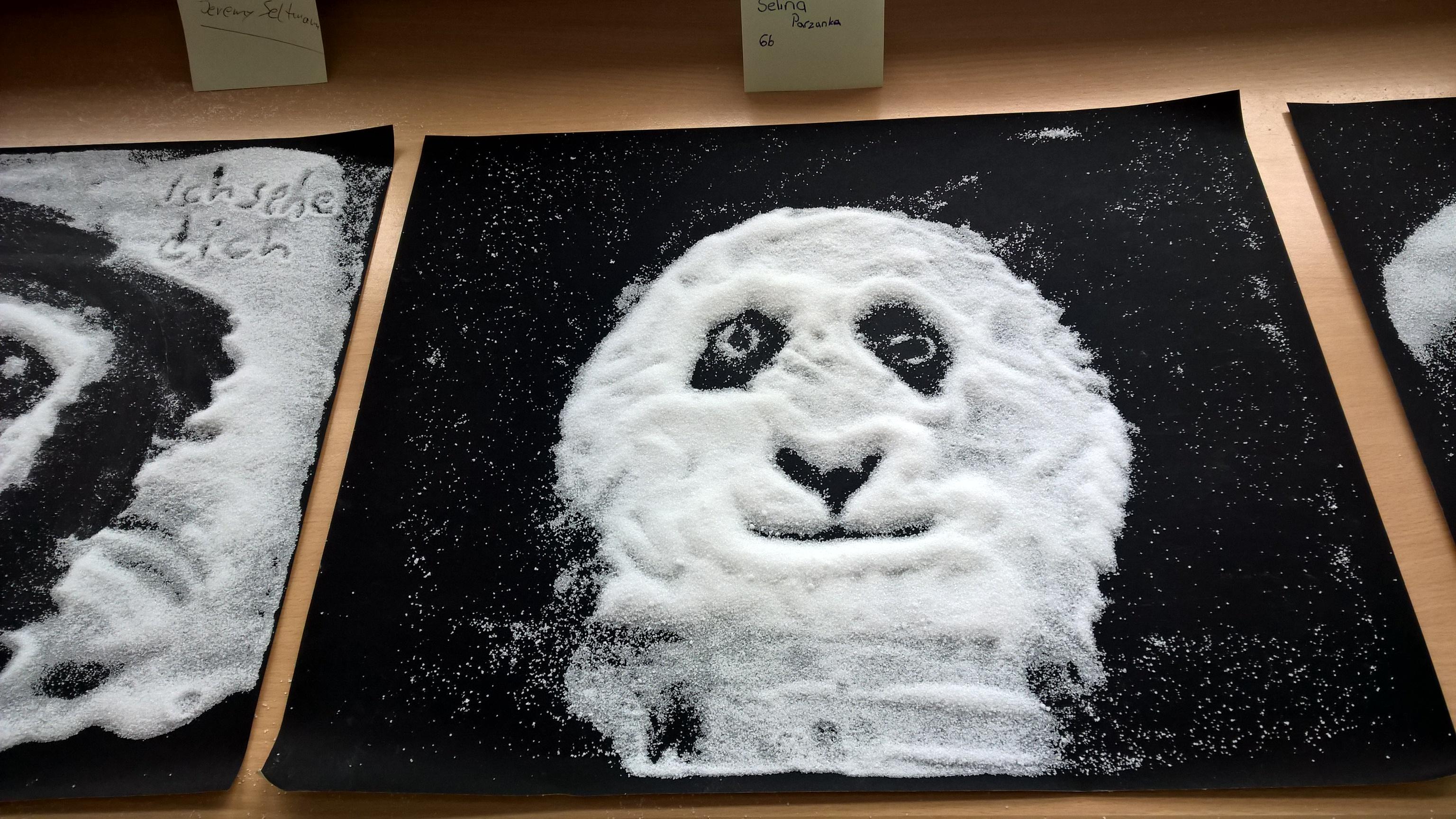 Einblicke aus dem Kunstraum, im Rahmen des Projektes mit dem Thema Salz